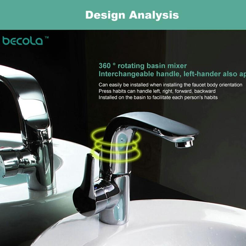 $138.72- Becola Modern Washbasin Design Bathroom Faucet Mixer Waterfall Hot Cold Water Taps For Basin Of Bathroom F6136