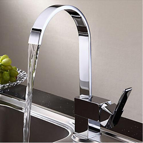 $97.89- Chrome Mixer Hot&Cold Kitchen Faucet Swivel Sink Taps Brass Code8052