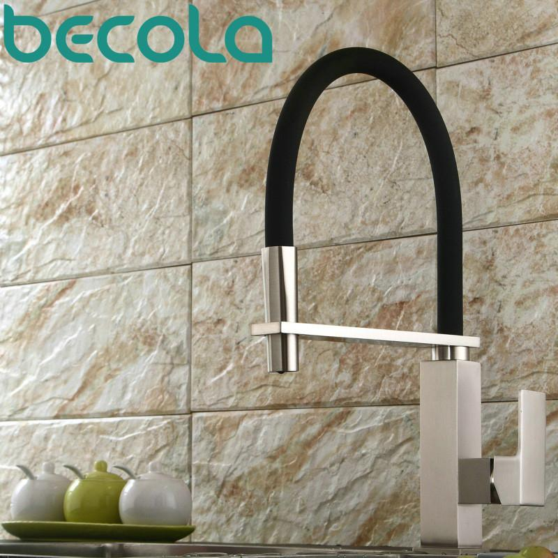 Buy Becola Design Brushed Nickel Kitchen Faucet Pull Out Down ...