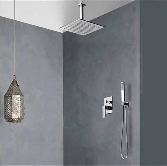 $230.10- Becola Concealed Shower Set. Concealed Shower Faucets. 10 Inch Rainfall Square Shower HeadBath Tap Mixer