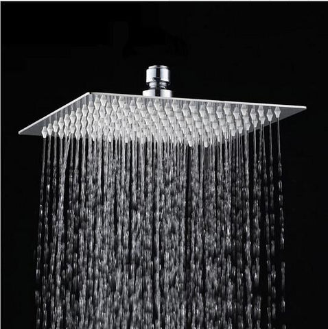 12'' (12 Inch) 30cm * 30cm square stainless steel ultra-thin showerheads Bathroom square overhead rainfall shower head CP121200