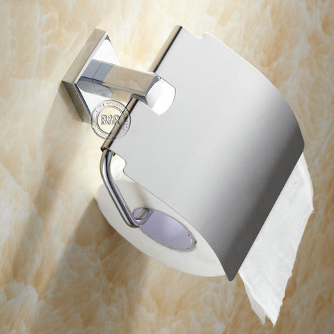 $28.19- Becola Bathroom Accessories Stainless Steel Surface Modern Toilet Paper Copper Roll Holder Br87011