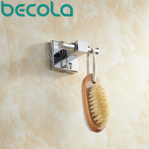 $18.81- Becola Clothes Hook Solid Brass Chrome Finish Bathroom Accessories Robe Hook B87015