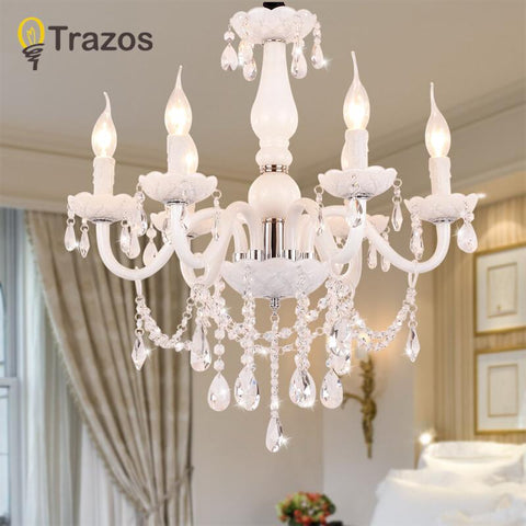 $118.05- European Style White Crystal Chandeliers Modern Led Chandeliers For Living Room Lustres De Sala De Cristal Wedding Decoration