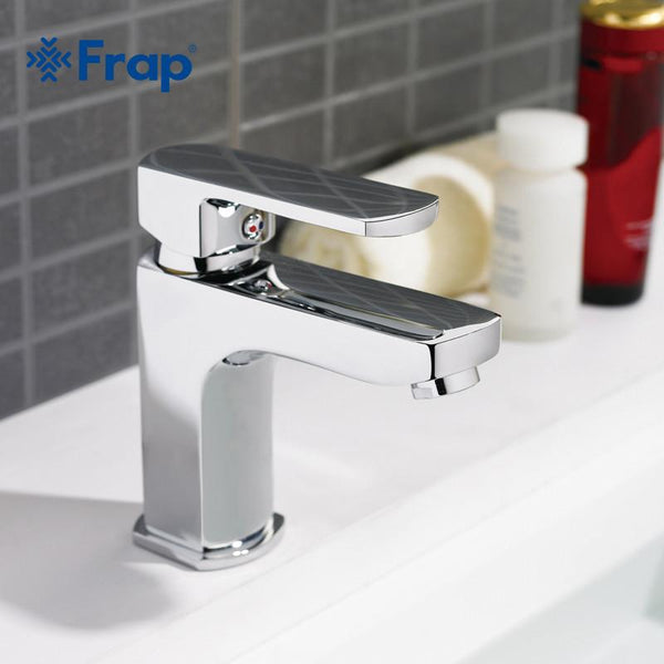 1 Set Brass Boby Bathroom Basin Faucet Vessel Sink Water Tap Cold Hot Mixer  Chrome Finish F1064