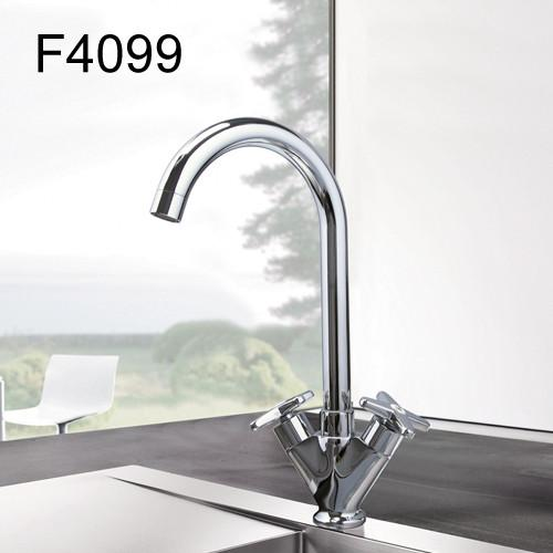 $76.66- Simple Style Dual Handle Cold Hot Water Mixer Tap Kitchen Faucet Outlet Pipe Of Gooseneck Design F4098 & F4099