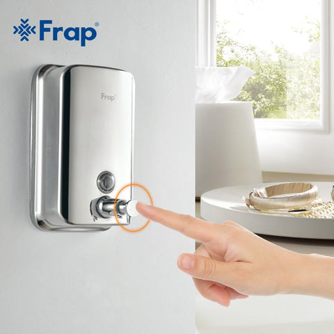 $32.26- Frap Wall Mounted Shampoo Soap Dispenser Chrome Finish Square Liquid Soap Bottle Bathroom Accessories 500Ml F401 800Ml F402