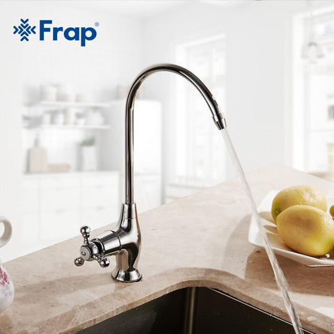 $32.40- Durable Simple Kitchen Faucet Basin Sink Tap Single Lever Cold Water Direct Drinking Faucet Excellent Quality F10528