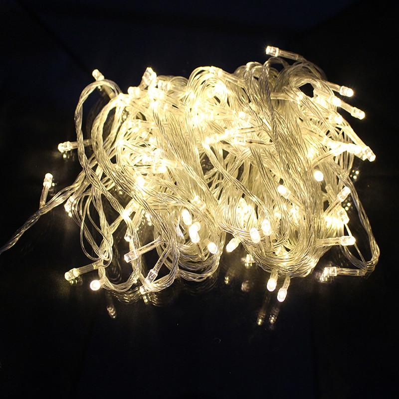 $10.70- Chrismas Led Fairy String Light 10M 100 Led Waterproof 110V/220V Christmas Tree Lamp Xmas Holiday Outdoor Decorations For Home