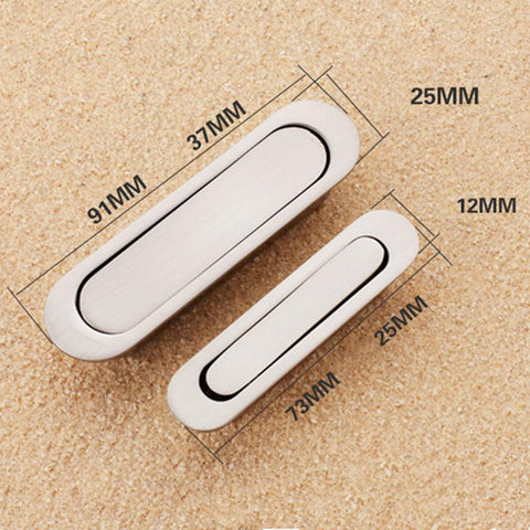 $6.97- Alloy Metal Silver Invisible Door Handles For Kitchen Cabinet Cupboard Wardrobe Drawer Pull Knobs Kitchen Accessories