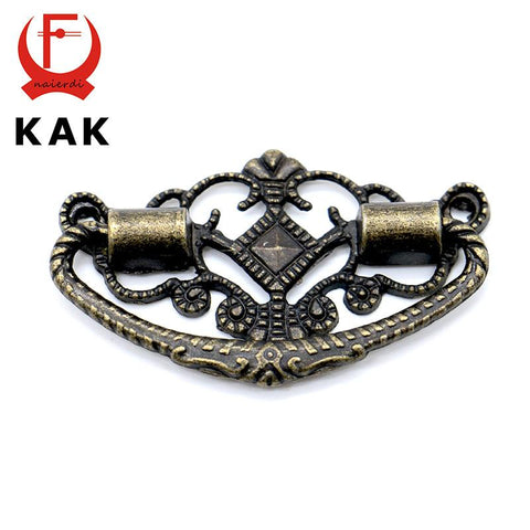 $1.48- Kak 48Mm X 25Mm Bronze Tone Cabinet Knobs Drawer Handles Cupboard Pulls Jewellery Box Handle W/ Screws For Furniture Hardware