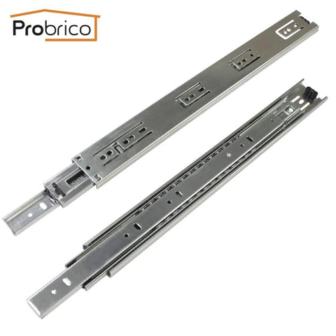 $19.78- Probrico 1 Pair 16 Ball Bearing Slides Kitchen Furniture Drawer Rail Steel Full Extension Guides Glides Heavy Duty Dshh3016