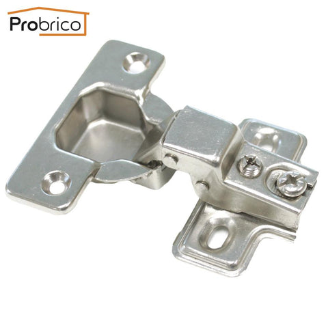 $25.18- Probrico Chh48Gb 4 Pair 95 Degree Clip On Door Concealed Half Overlay Furniture Kitchen Cabinet Hinges