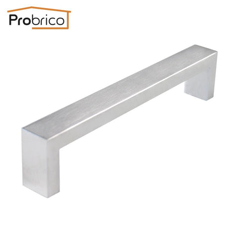 probrico 10 pcs 10mm20mm square bar handle stainless steel hole spacing 160mm cabinet door knob drawer pull