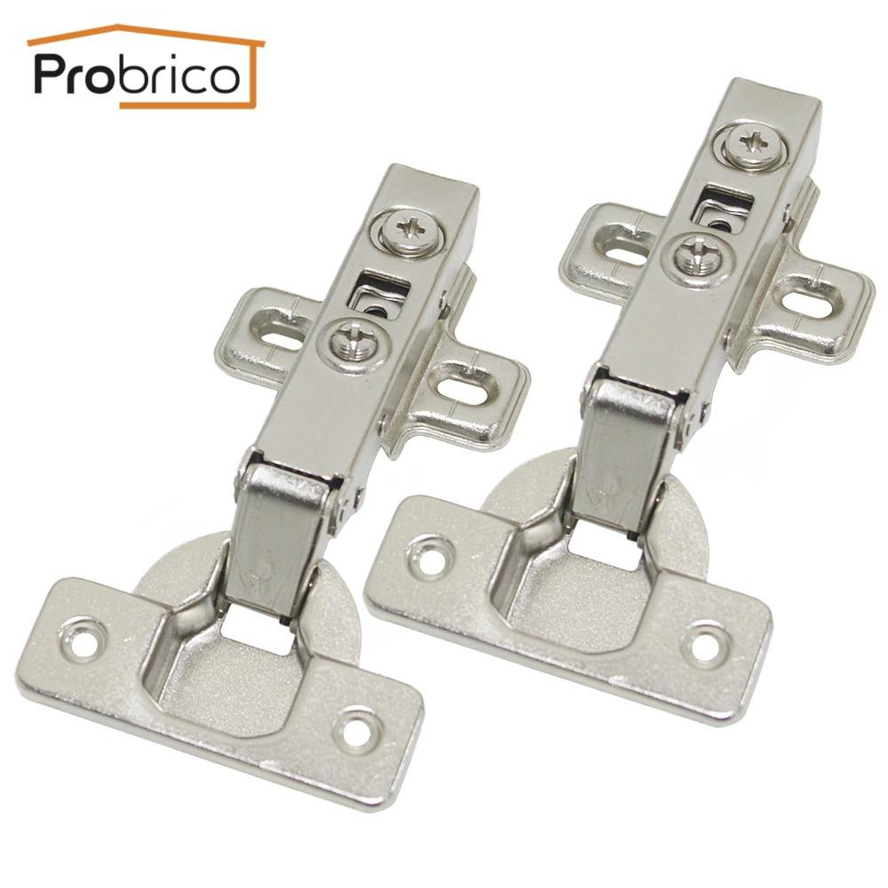$43.18  Probrico 4 Pair Soft Close Concealed Kitchen Cabinet Hinge Chr093Ha Full  Overlay Hydraulic Furniture