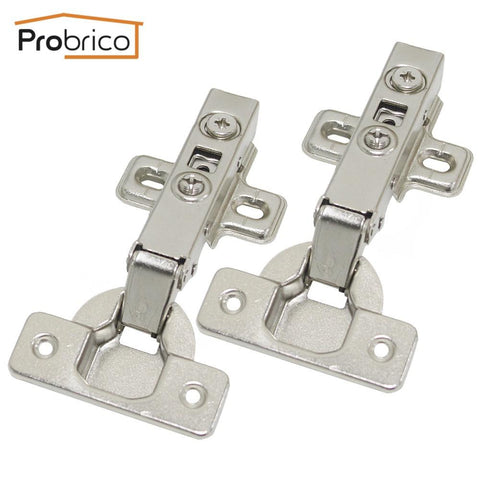$43.18- Probrico 4 Pair Soft Close Concealed Kitchen Cabinet Hinge Chr093Ha Full Overlay Hydraulic Furniture Cupboard Door Hinge