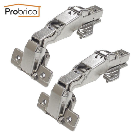 $26.98- Probrico Soft Close Kitchen Cabinet Corner Folded Hinge 165 Degree Chwh04Ha Concealed Combination Cupboard Door Hinge