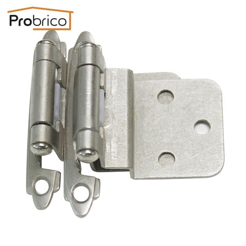 $9.86- Probrico Self Close 3/8 Inset Satin Nickel Kitchen Cabinet Hinges Ch198Sn Furniture Cupboard Door Hinge
