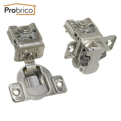 $43.18- Probrico 4 Pair Soft Close Kitchen Cabinet Hinge Chm36H114 Concealed Frame Insert Overlay Furniture Cupboard Door Hinge