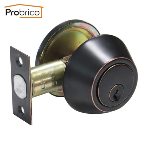 Probrico Wholesale 10 PCS Stainless Steel Deadbolt  Key Lock Set DLD101ORBDB Safe Entrance Locker USA Domestic Delivery