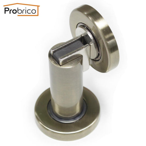 $19.78- Probrico Heavy Duty Door Stop Dshh101Ab Antique Bronze Metal WallMounted Door Holder FloorMounted Magnetic Door Catch Stopper