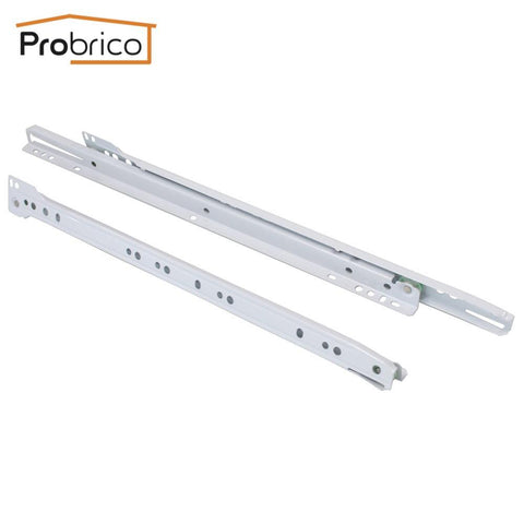 $19.78- Probrico 1 Pair Keyboard Drawer Sliding Dsmh10216 Steel White Length 400Mm 16 Furniture Cabinet Kitchen Cupboard Drawer Slides