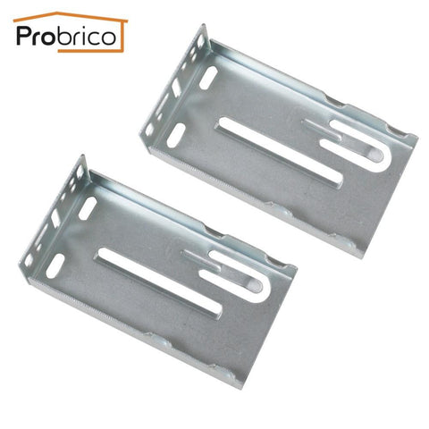 $11.38- Probrico 2 Pcs Mount Rear Frame Drawer Brackets For Drawer Slides
