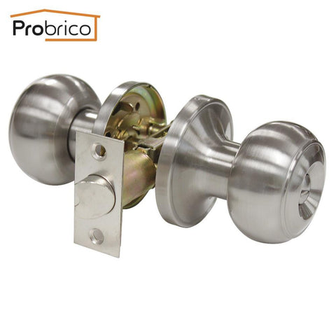 $30.58- Probrico Stainless Steel Safe Lock Satin Nickel Security Door Lock Dl609Snbk Door Handles Privacy Door Keyless Lock Knobs