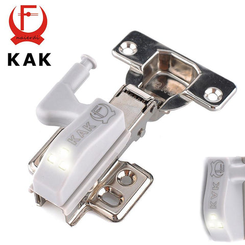 10Pc Kak Universal Kitchen Bedroom Cabinet Cupboard Closet Wardrobe 0.25W Inner Hinge Led Sensor Light System Furniture Hardware
