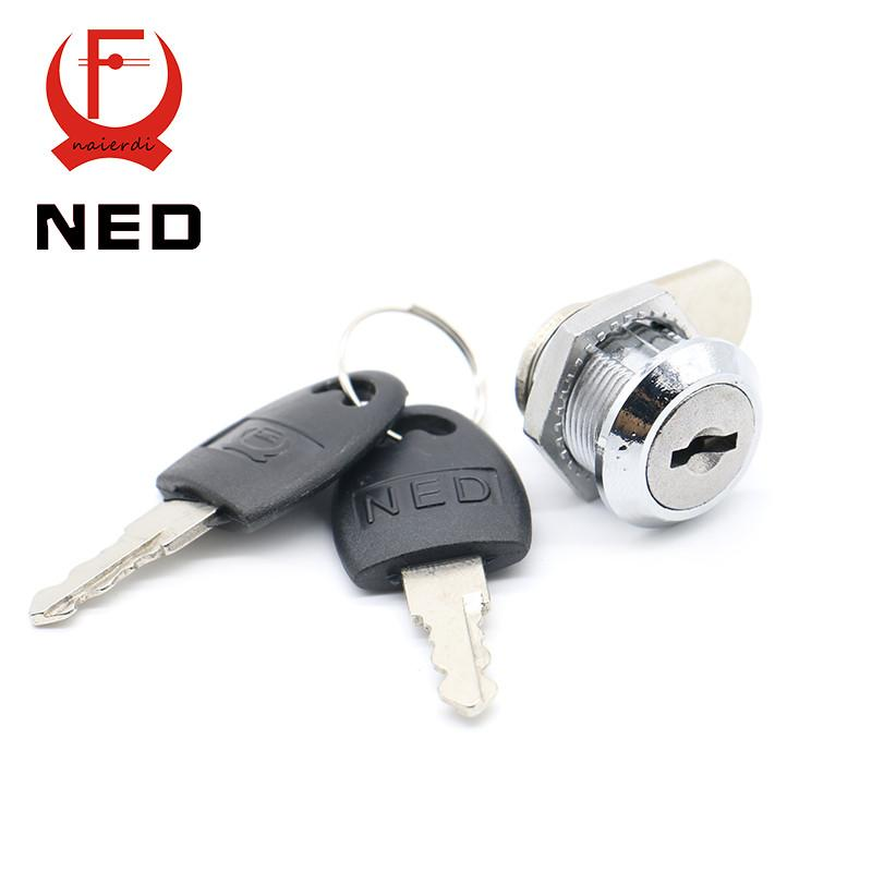 Ned103 Series Cam Cylinder Locks Door Cabinet Mailbox Drawer Cupboard  Locker Security Furniture Locks W/ Plastic Keys Hardware