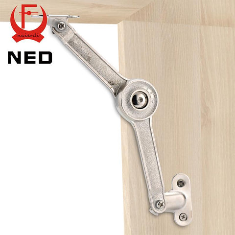 $9.48- Ned Randomly Stop Adjustable Hinge Cabinet Cupboard Door Furniture Lift Up Strut Lid Flap Stay Support Hydraulic Hinges Hardware