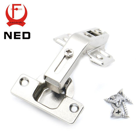 $4.14- Ned 135 Degree Corner Fold Cabinet Door Hinges 135 Angle Hinge Furniture Hardware For Home Kitchen Bathroom Cupboard W/ Screw