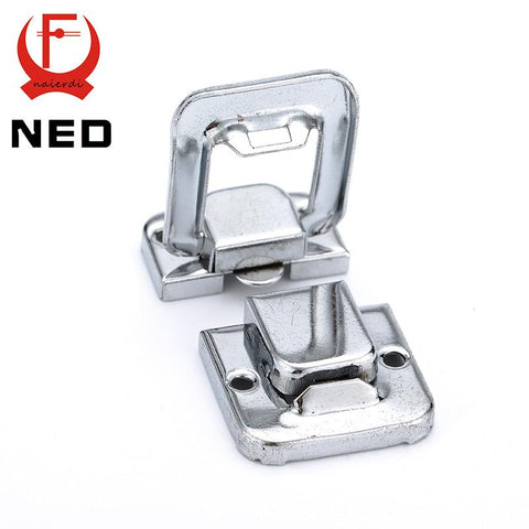$1.58- Ned J401 Cabinet Boxes Square Lock Spring Loaded Latch Catch Toggle Locks Mild Steel Hasp For Sliding Door Window Hardware