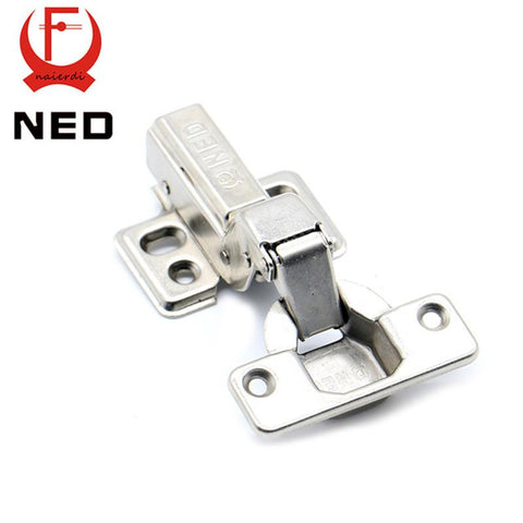 $21.53- 4Pcs Ned Hinge Rustless Iron Hydraulic Hinge Iron Core Damper Buffer Cabinet Cupboard Door Hinges Soft Close Furniture Hardware