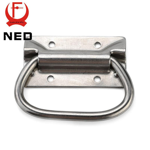 $9.65- NedJ204 Cabinet Handle Wooden Case Knobs Tool Box Stainless Steel Handles Kitchen Drawer Pull Bear 250Kg For Furniture Hardware