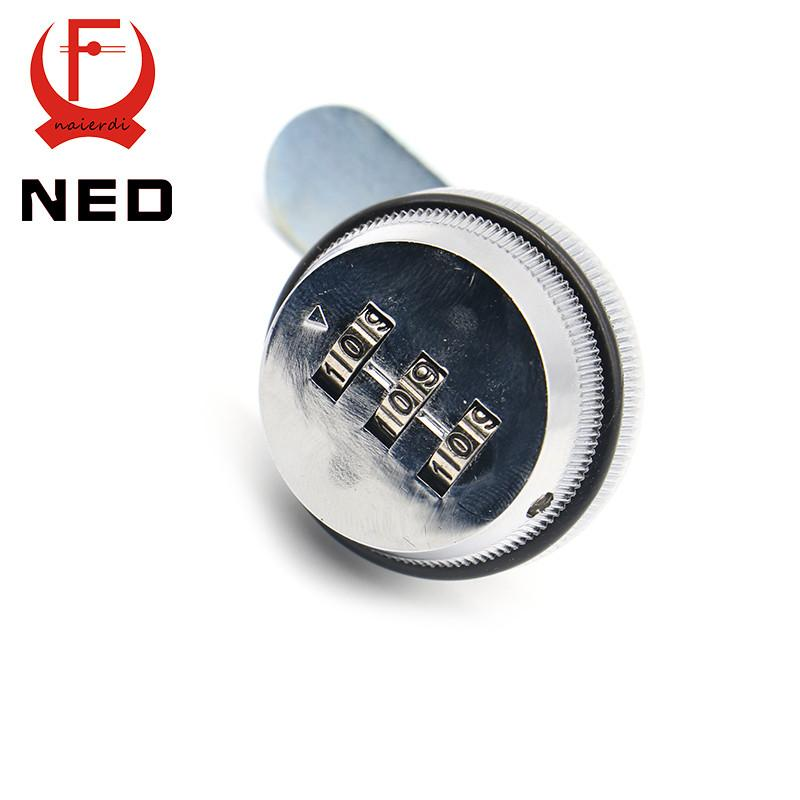 $50.67- 5Pcs Ned Combination Lock Black/Silver Zinc Alloy Password Locks Security Home Automation Cam Lock For Mailbox Cabinet Door