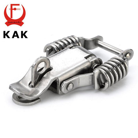 $7.30- 3Pcs Kak J108B Mild Steel Cabinet Box Hasp Lock 67*24 Spring Loaded Latch Catch Toggle Locks For Door Window Furniture Hardware