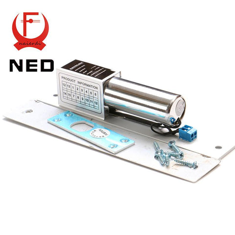 $34.40- Ned Dc 12V Electric Drop Bolt Door Lock 2Lines Magnetic Induction Auto Deadbolt Locks For Security Door Access Control Systems