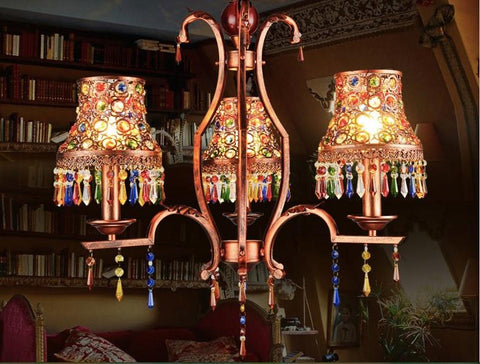 Customized Bohemian Style Crystal Chandeliers 12/15/18 Lights Gold Base Glass Arm Gold Candle Holder Clear Crystal Chandelier