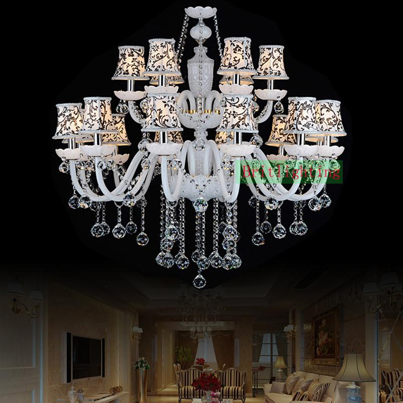 Buy modern crystal chandeliers country style chandeliers bohemian 104000 modern crystal chandeliers country style chandeliers bohemian top glass chandelier lamp 18 lights candle aloadofball Image collections
