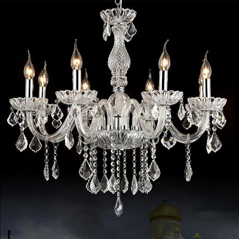 $294.03- Bohemian Crystal Chandelier Round Candle Chandelier 8Lights Suspension Lighting Dining Room Modern Glass Chandelier Crystals