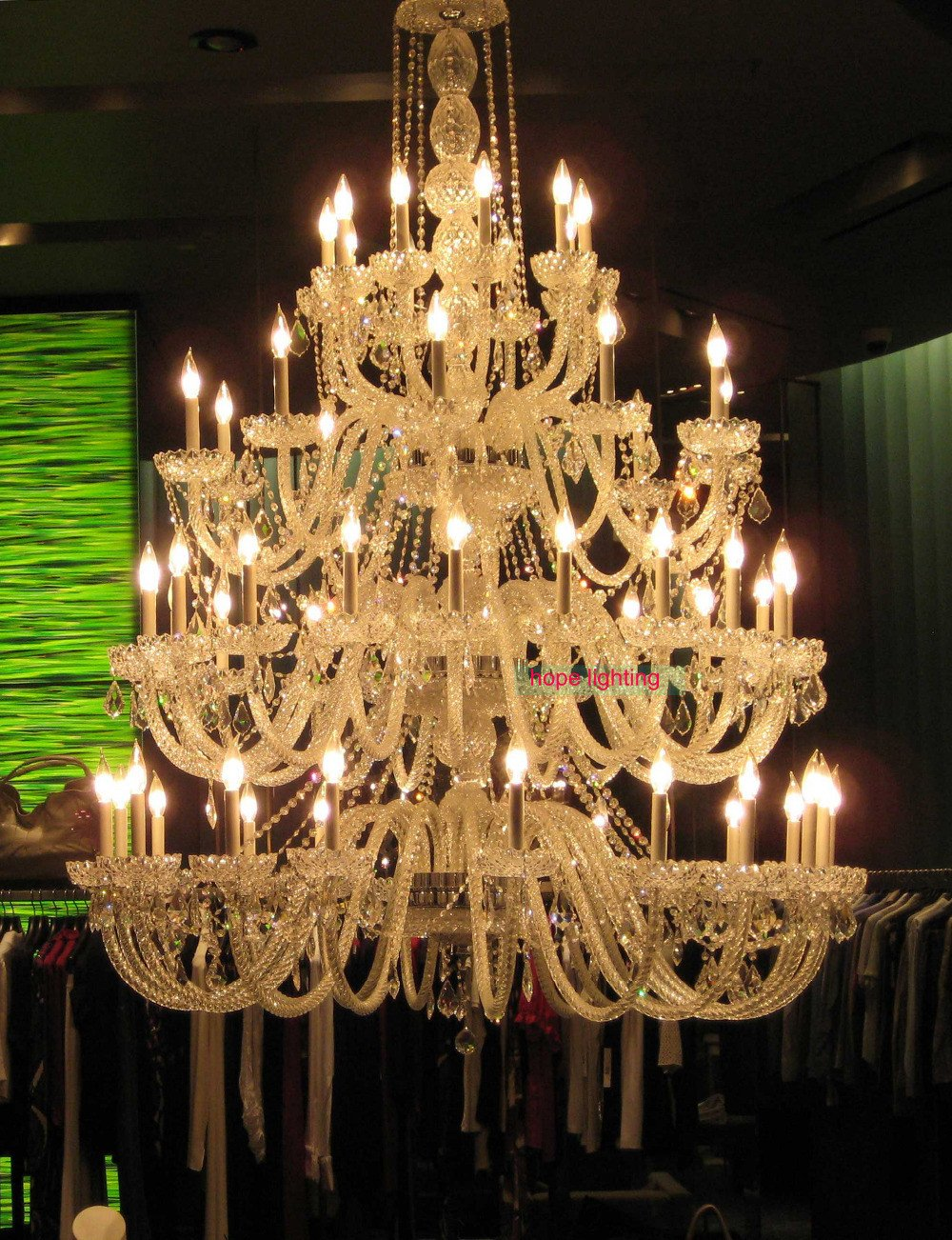 $3855.60- Bohemian Crystal Chandelier For Hotel Project Contemporary Glass Chandelier Multi Tier Large Modern Crystal Chandelier Mel House