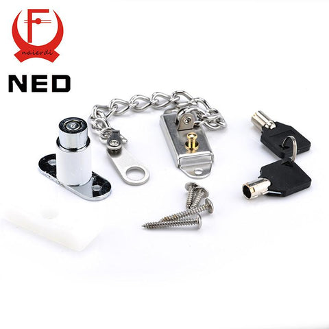 $18.68- Ned Window Security Chain Lock Door Restrictor Child Safety Stainless AntiTheft Locks For Home Sliding Door Furniture Hardware