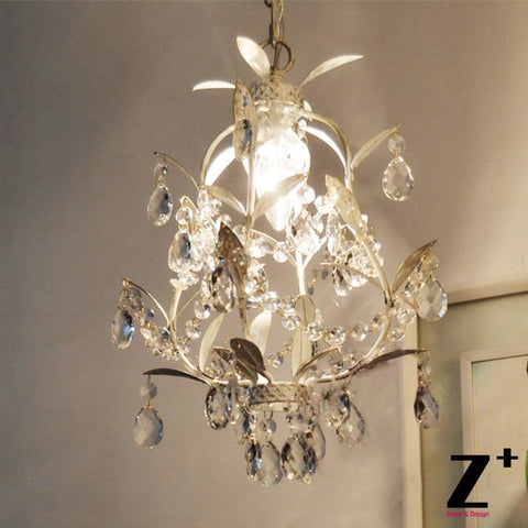 French Country Style Vintage K9 tree branch Crystal Rococo Palais Pendant  Light lamp wrought iron cage free shipping
