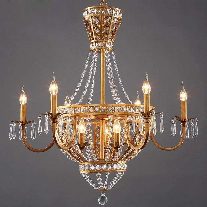 $723.24- American Vintage Rustic French Style Crystal Chandelier Light Home Lighting Chandeliers Rustic Country Style Creative Pastoral