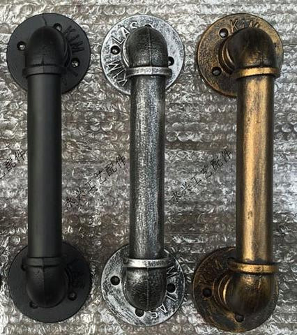 $67.66- 30Cm Creative Retro Bar Cafe Music Club Ktv Doorknobs Industrial Pipe Style Doorknobs