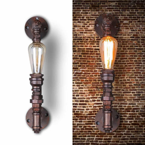 $109.38- Nordic Loft Style Industrial Water Pipe Lamp Vintage Wall Light For Home Antique Bedside Edison Wall Sconce Indoor Lighting
