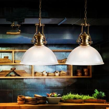 2pcs American Loft Style Retro Lampe Vintage Lamp Industrial Pendant Lighting Fixtures Dinning Room Bombilla Edison Lamparas