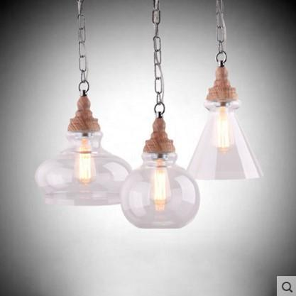 wireless lighting fixtures. glass lampshade style loft industrial pendant light fixtures vintage handing lamp lamparas pendente de techo wireless lighting e