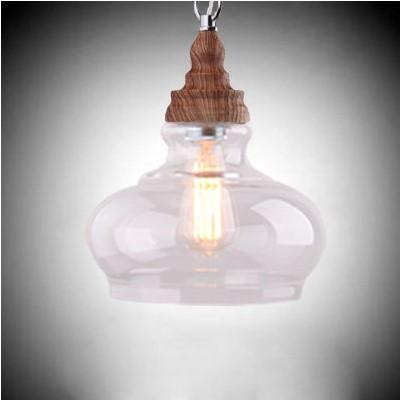 $110.47- Glass Lampshade Style Loft Industrial Pendant Light Fixtures Vintage Handing Lamp Lamparas Pendente De Techo